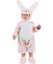 Baby verkleedkleding roze konijntje