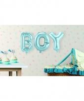 Babyshower jongen opblaasletters