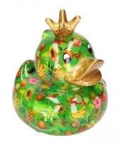 Badeend spaarpot groen fruit print