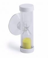 Badkamer tandenpoets zandloper 2 minuten geel