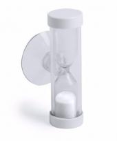 Badkamer tandenpoets zandloper 2 minuten wit