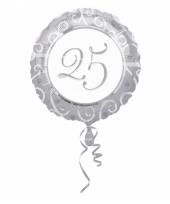 Ballon helium met 25 zilver