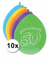 Ballonnen 50 jaar abraham 10 stuks