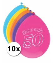 Ballonnen 50 jaar sarah 10 stuks
