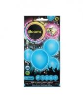Ballonnen blauw met led verlichting