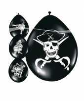 Ballonnen doodskoppen piraat