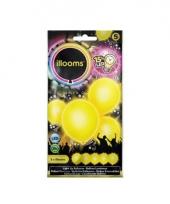 Ballonnen geel met led verlichting