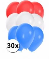 Ballonnen in de kleuren van nederland 30x