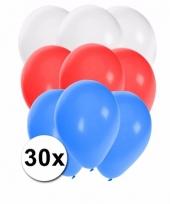 Ballonnen in de kleuren van slowakije 30x