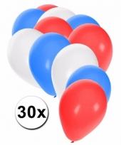 Ballonnen in de kleuren van tsjechie 30x