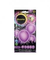 Ballonnen paars met led verlichting