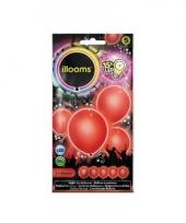 Ballonnen rood met led verlichting