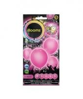 Ballonnen roze met led verlichting