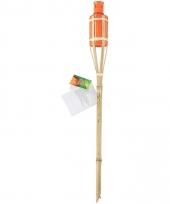 Bamboe tuinfakkel oranje 60 cm