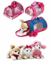 Barbie honden draagtas met witte poedel