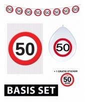 Basic set met 50 jaar stopbord versiering