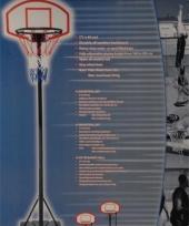 Basketbal net en standaard