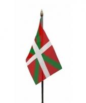 Baskische landenvlag op stokje