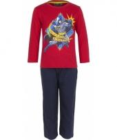 Batman pyjama rood met print