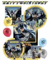 Batman themafeest kinderfeestje decoratie pakket 8 personen
