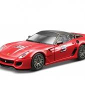 Bburago model auto ferrari 599 xx rood