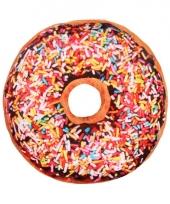 Bed kussen bruine donut