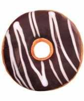 Bed kussen chocolade donut 40 cm
