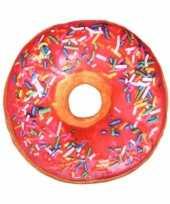 Bed kussen gekleurde donut roze