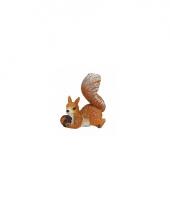 Beeldje van eekhoorn 7 cm type 2
