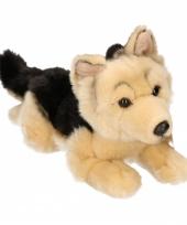 Beige duitse herder puppy pluche 26 cm
