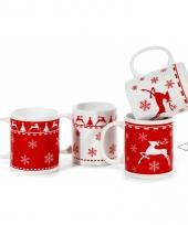 Beker met kerstprint rood type 2