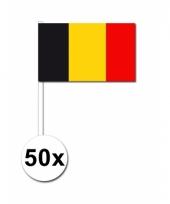 Belgie zwaai vlaggetjes 50 stuks