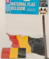 Beligische stokvlag stickers 4 stuks