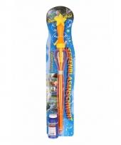 Bellenblaas toverstok oranje 53 cm