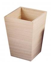 Beschilderbare vaas van hout 16 5 cm