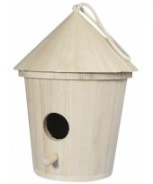 Beschilderbare vogelhuisjes 16 cm