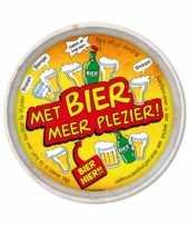 Bier dienbladen met bier meer plezier