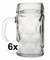 Bier glazen 0 5 liter 6 stuks