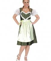 Bierfeest jurk groen met hart