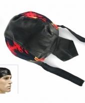 Biker hoofddoek bandana flames