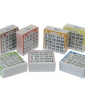 Bingo kaarten 1 75 gekleurd