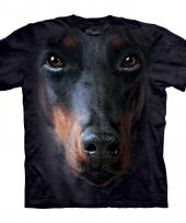 Black dobermann face shirt the mountain