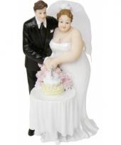 Blank hetero bruidspaar taartdecoratie 14 cm