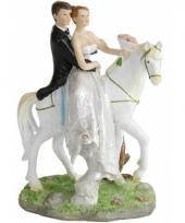 Blank hetero bruidspaart taartdecoratie 15 cm