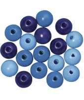 Blauw gekleurde kraaltjes 6 mm