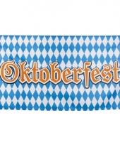Blauw met wit oktoberfestvlag 90x150 cm