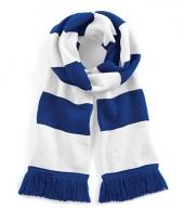 Blauw met witte retro sjaal 182 cm