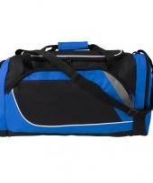 Blauw met zwarte sporttas reistas 45 liter