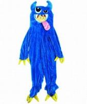 Blauw monster oufit voor kinderen