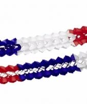 Blauw rood wit versiering slingers